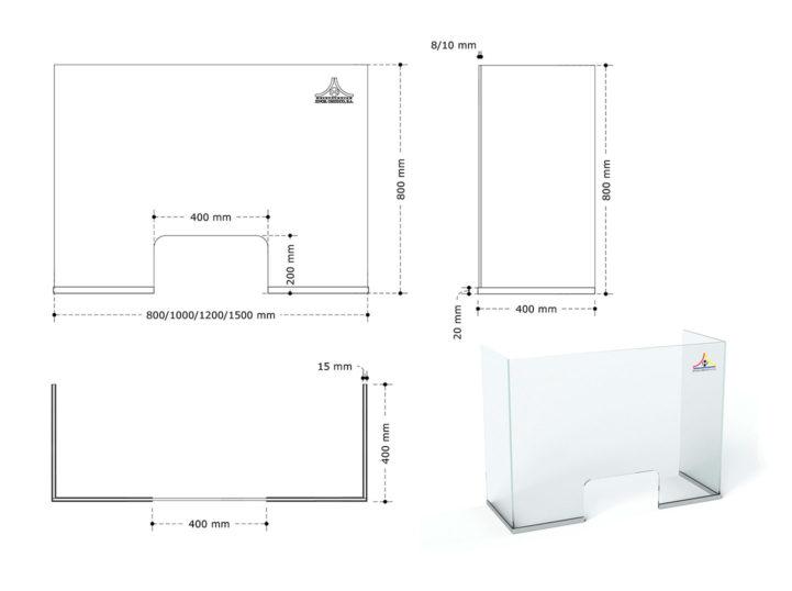medidas modelo urna