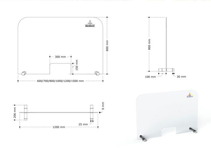 Medidas modelo taquilla